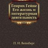 Книга П.И. Вейнберга Генрих Гейне. Его жизнь и литературная деятельность