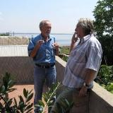 с поэтом Ю.Кублановским в Ольвии.2008.